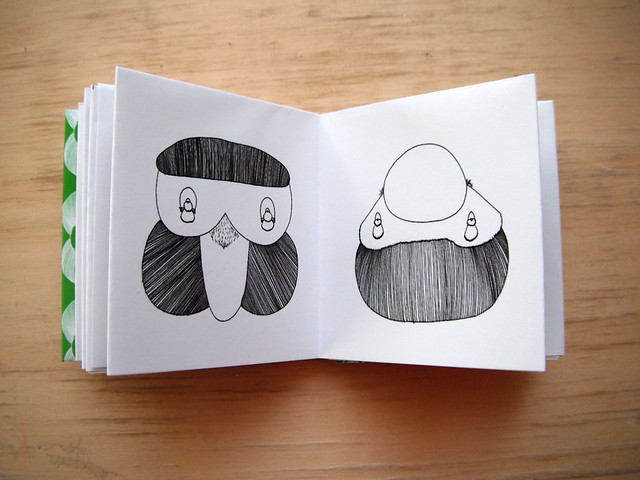Miniature Origami Artists' book of drawings by Lucy Cheung