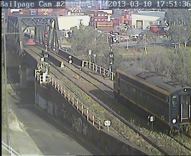 S303 returning to Dynon from Newport 10-3-2013 by Railpage Bunbury Street