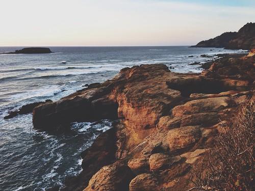 ocean nature oregon landscape oregoncoast iphone afterlight devilspunchbowlstatepark iphone5 procamera vsco vscocam uploaded:by=flickrmobile flickriosapp:filter=nofilter