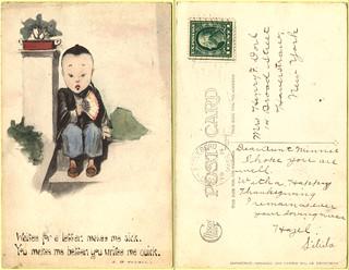 E.B.Kemble Art Card, Gibson Art Co., Cincinnati, Ohio 1914.11.25