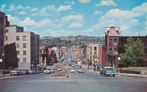street west vintage king view quebec postcard sherbrooke
