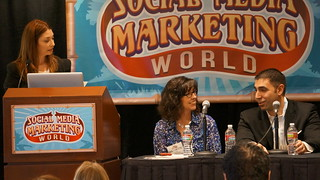 Blogging for Big Business Panel: Waynette Tubbs & Justin Levy at Social Media Marketing World | by TopRankMarketing