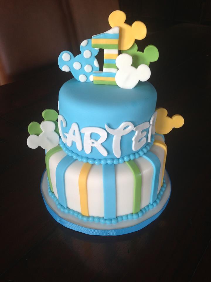 Enjoyable Baby Mickey 1St Birthday Cake Baby Mickey 1St Birthday Cak Flickr Funny Birthday Cards Online Alyptdamsfinfo