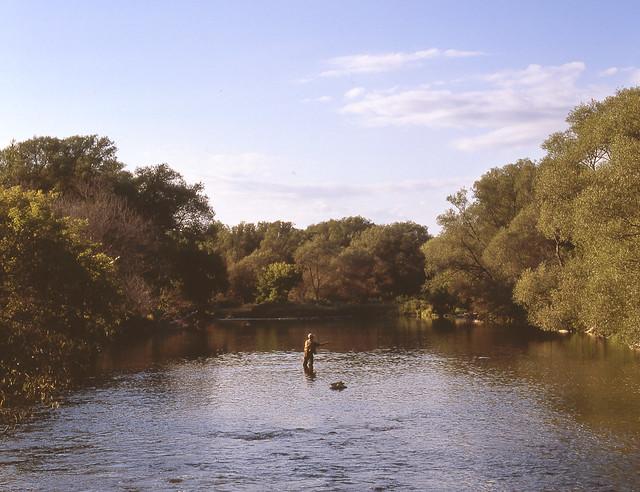 Fishing off Three Bridges Road