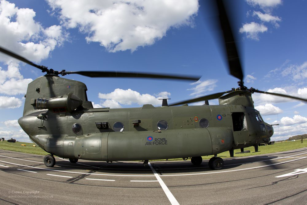 Mk3 Chinook Helicopter at RAF Odiham