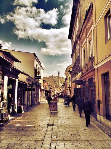 city sarajevo bosnia oldtown easterneurope balkan uploaded:by=flickrmobile flickriosapp:filter=iguana iguanafilter