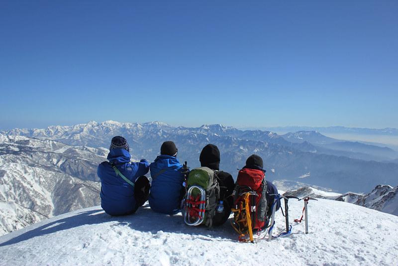 唐松岳 雪山登山