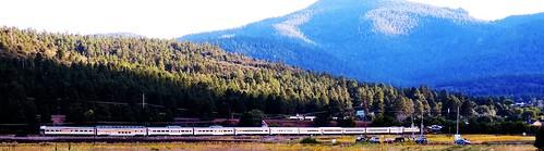 grandcanyonrailway williams arizona 082616 nationalparkservice centennial railroad trains steam locomotive landscape mountains