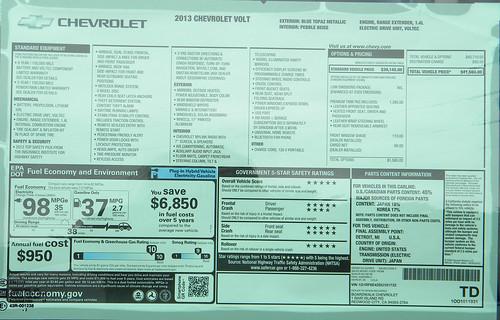 2013 Chevrolet Volt Info Photo