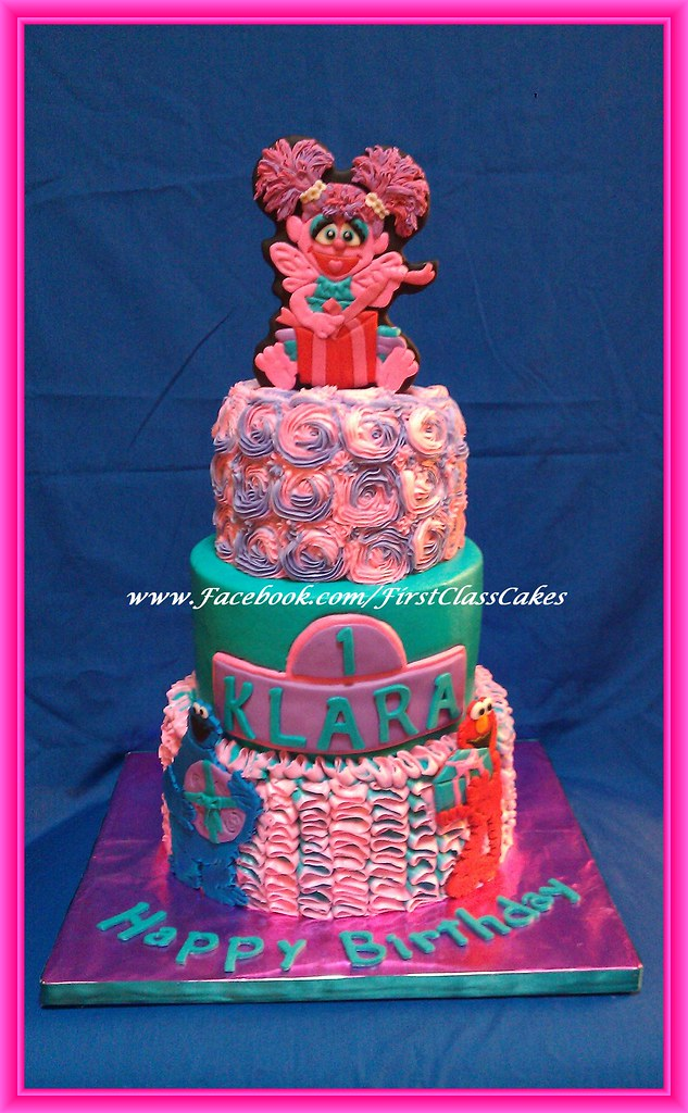 Tremendous Sesame Street Abby Cadabby Cake Almond Cream Cheese Pound Flickr Birthday Cards Printable Nowaargucafe Filternl