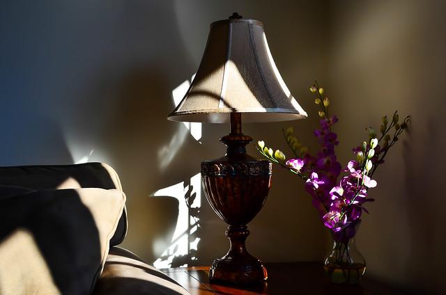 lamp and sofa