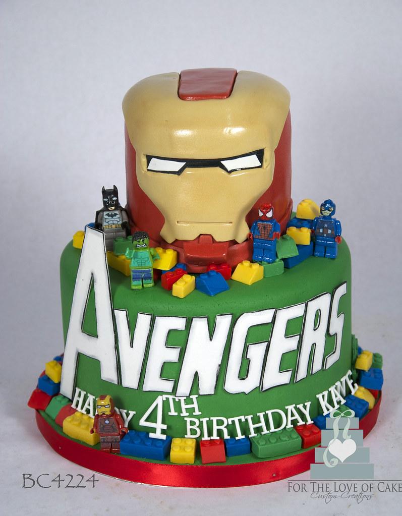Swell Bc4224 Lego Ironman Cake Toronto Oakville Bc4224 A 4Th B Flickr Personalised Birthday Cards Akebfashionlily Jamesorg