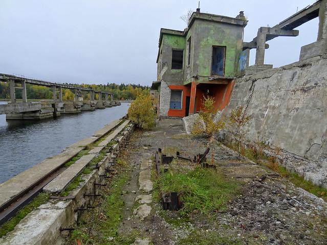 Abandoned Soviet submarine base near the village of Hara