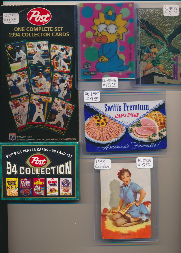 Post Baseball Cards, Simpsons, Calendars