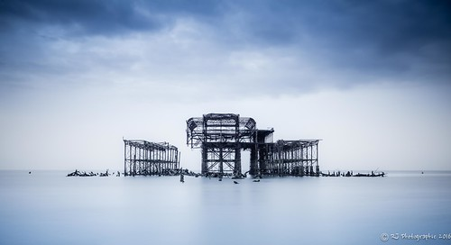 landscape leefilters brighton coastal longexposure pier sea seascape sunrise water west