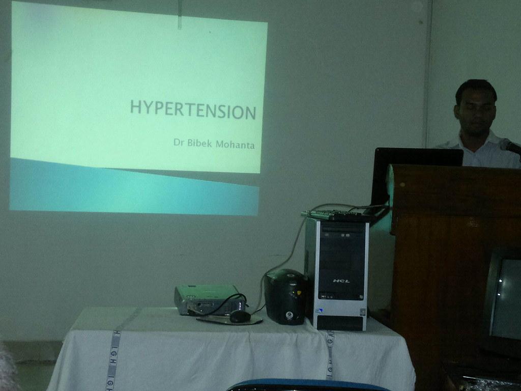 Dr. Bibek Mohanta speaking on hypertension