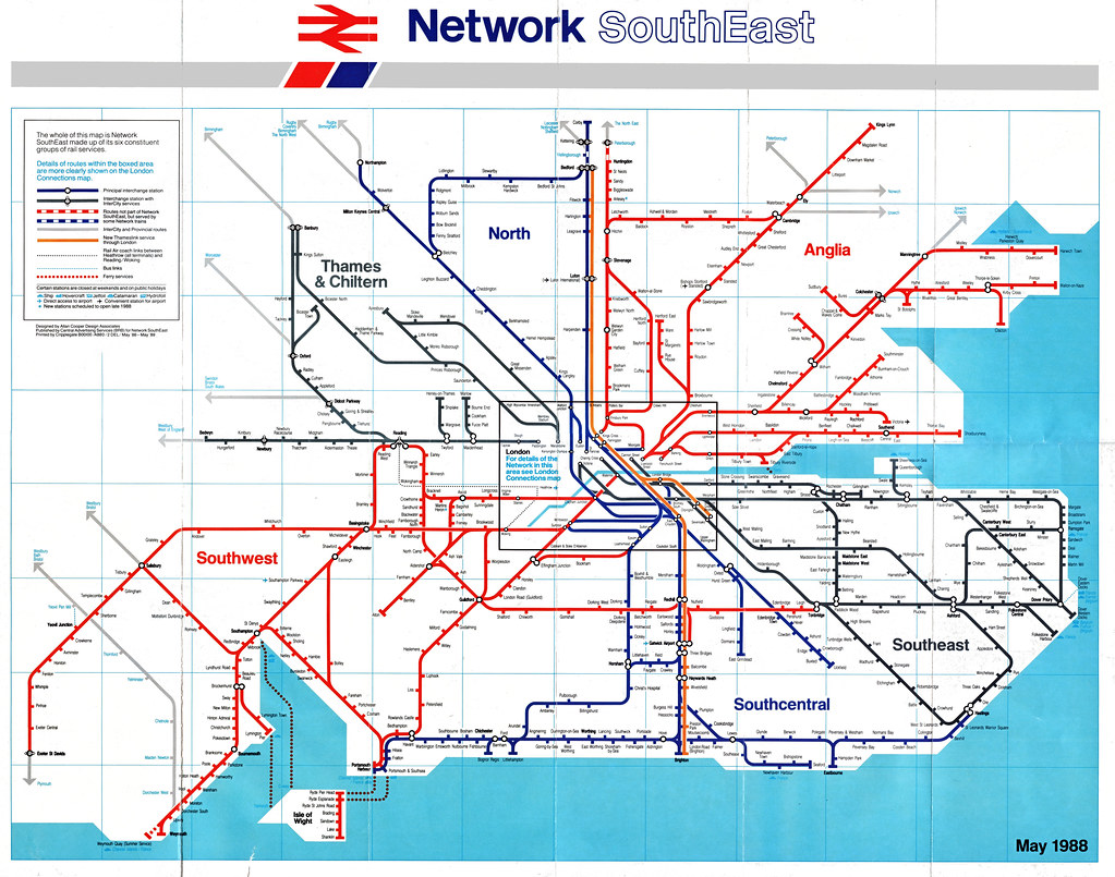 Map South East London.Network Southeast Map The Other Side Of The London Connect Flickr