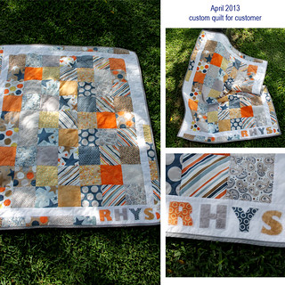 Super Star fabric Baby Quilt