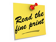 Read the Fine Print White Background | by One Way Stock
