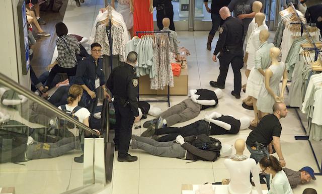 mannequin's arrested