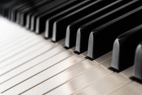 Black & White Keys In A Row | by aotaro