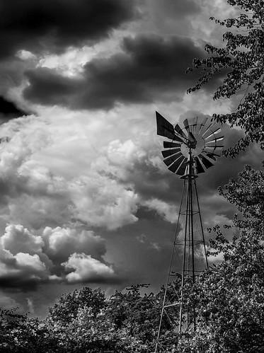 windmill monochrome clouds landscape virginia nikon scenic blackandwhitephotography alexandriava blinkagain