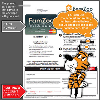 Direct Deposit Routing and Account Numbers   by FamZoo
