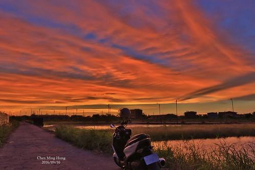 sunset taiwan storm