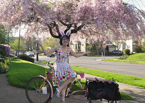 Day 50: Bunny on a Bike = Thesis on Hiatus