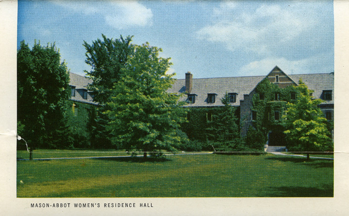 Mason-Abbot Hall, 1954 | Postcard of Mason-Abbot Hall, which