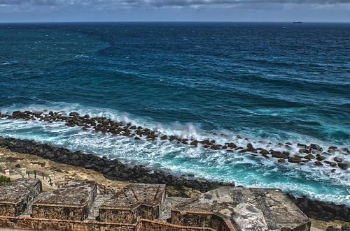 world ocean old blue sea heritage water del puerto us site san waves break juan parks wave el atlantic unesco rico explore national morro felipe castillo hdr explored nrpad