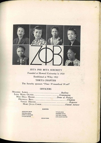 Zetas at Wiley College (1939) | by bluephi.net