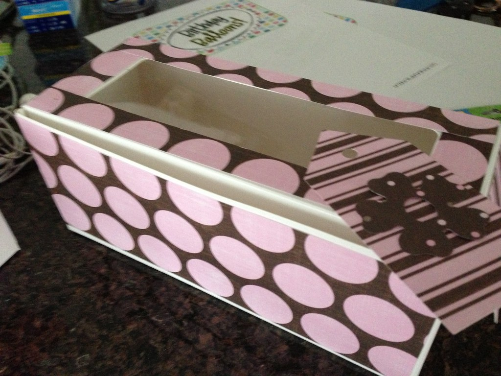 Decorated box and tag