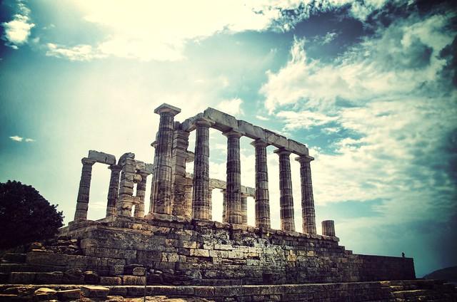 Temple of Poseidon.-