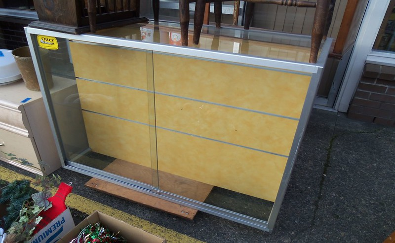 "46"" long x 36"" High x 19 "" deep - $175.00  is double sided with slat grooves A"