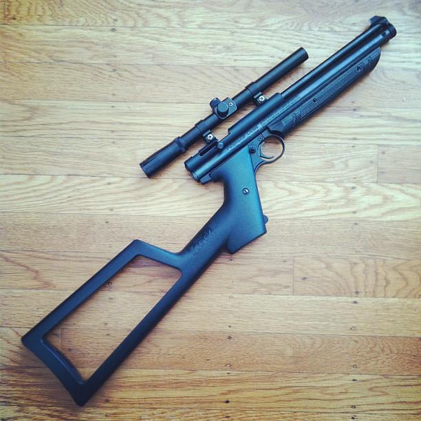 New toy! #custom #crosman #1377 #carbine #airrifle | Flickr