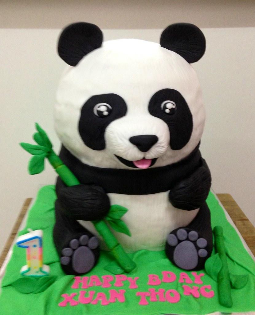 Pleasant Panda Bear Cake Tracey Chooi Flickr Funny Birthday Cards Online Inifofree Goldxyz