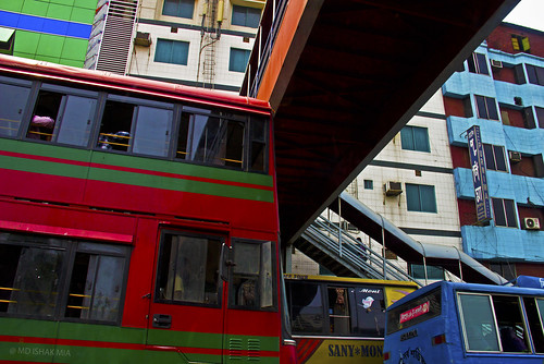 life road street bridge shadow bus lines traffic streetphotography daily rush rushhour dailylife widows lightshadow bangladesh colos flicker dayime footover canon600d persprctives