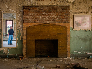 Self Portrait with Fireplace and Painting | by Entropic Remnants