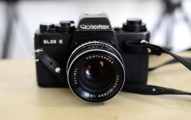 Rolleiflex SL35E+Voigtländer Color-Ultron 1.8/50