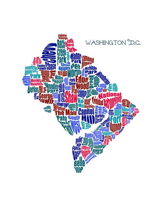 Dc Neighborhood Map on