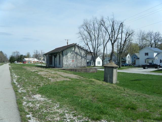 Depot and phone shanty Monterey Indiana