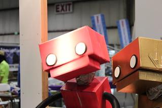 Cardboard robot puppet   by The Hello World Program