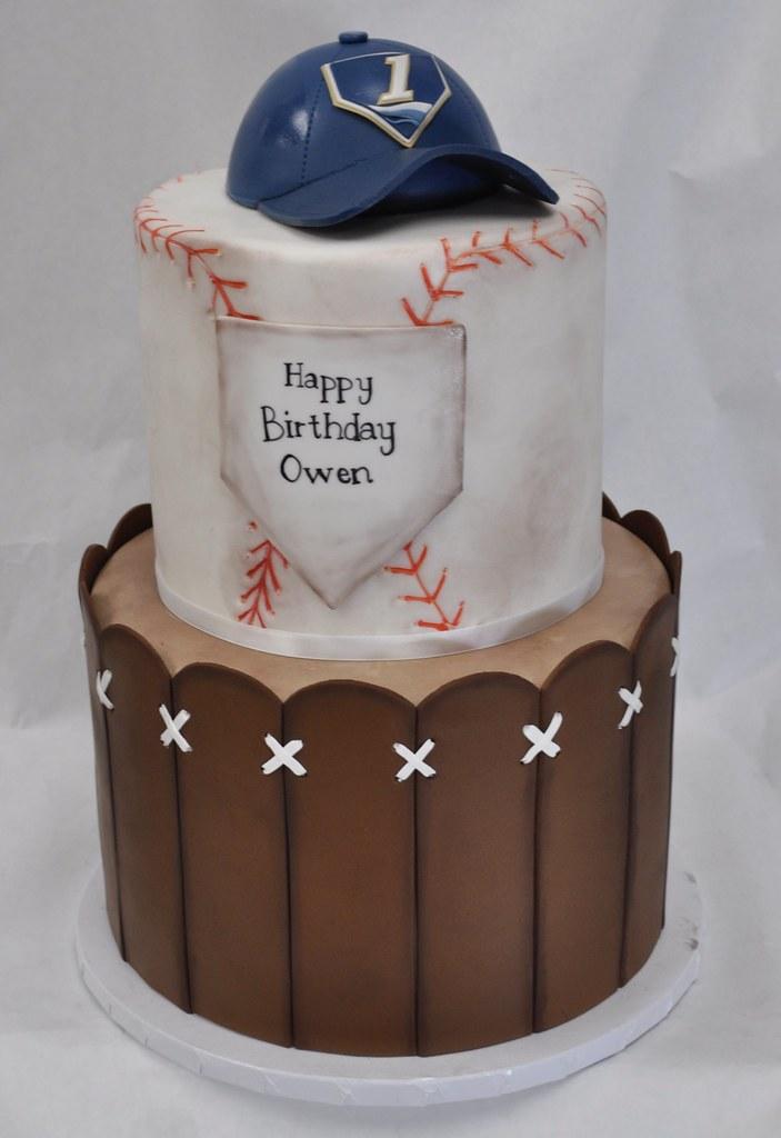 Marvelous Baseball Themed Birthday Cake Jenny Wenny Flickr Funny Birthday Cards Online Necthendildamsfinfo