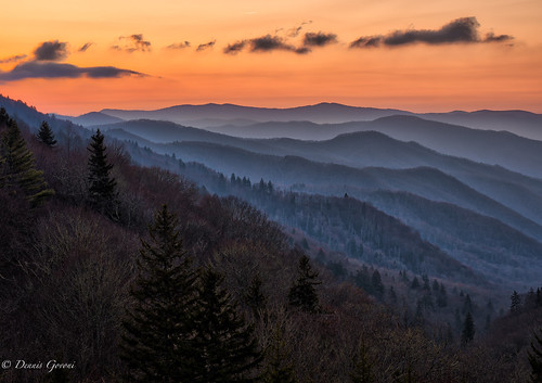 clouds landscape landscapemountain smokymountains spring sunrise tennessee