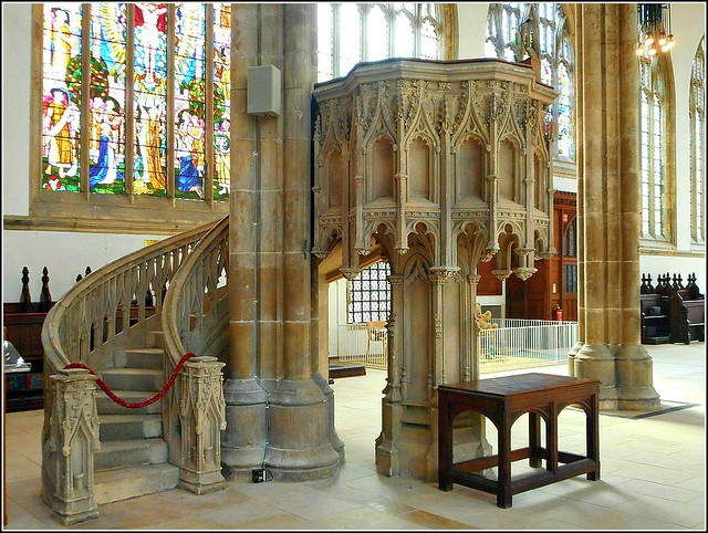 The Pulpit in Hull Minster..