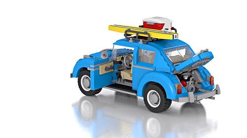 LEGO 10252 - Volkswagen beetle (rear)   by Niklas-B