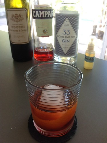 Quill with 33 Portland dry gin, Campari, Cocchi vermouth di Torino, St. George absinthe | by *FrogPrincesse*