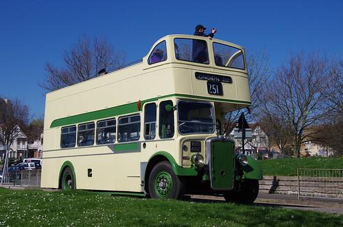 Eastern National Bristol KSW5G CN 2381, WNO 482 leaving Southend for London