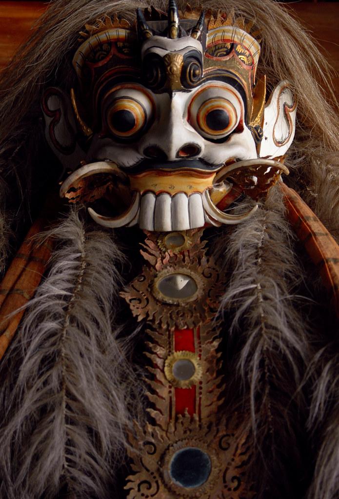 Rangda mask, circa 1950. Bali, Indonesia
